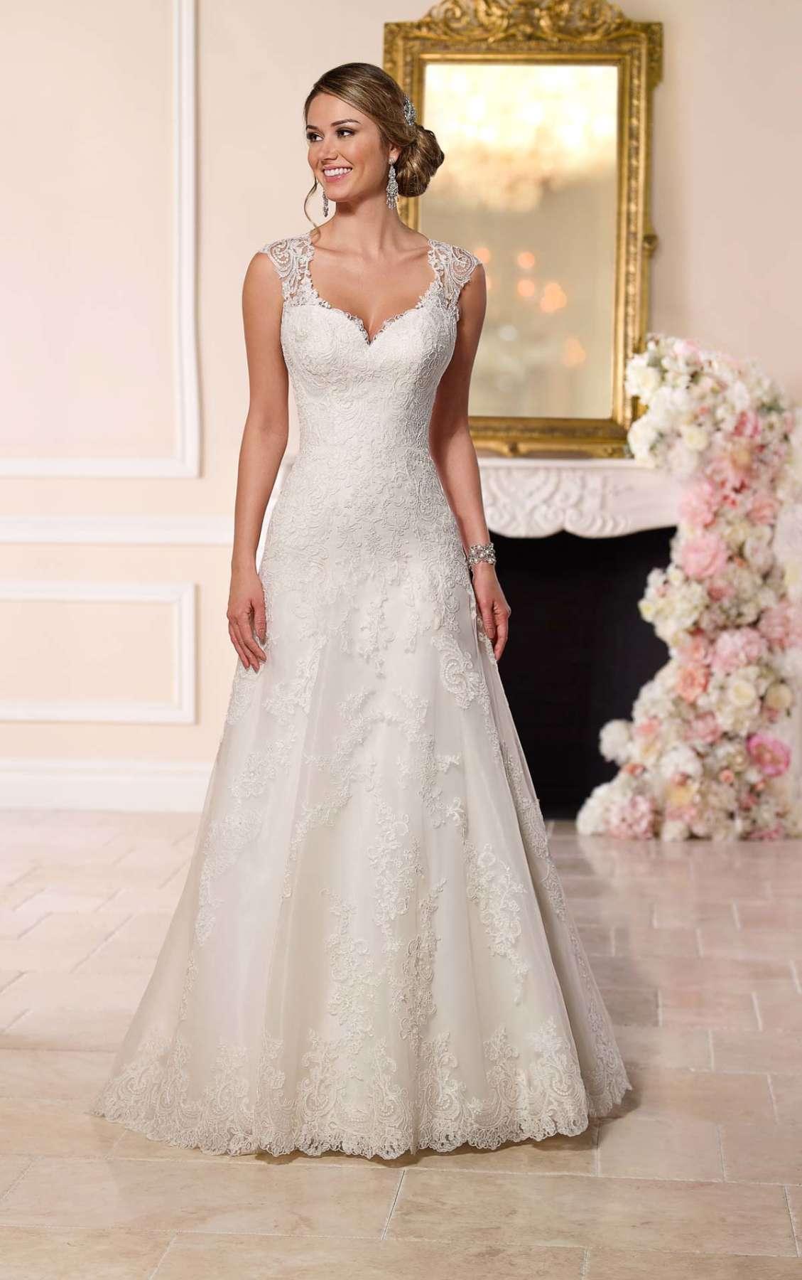 Кружевное свадебное платье Stella York 6219