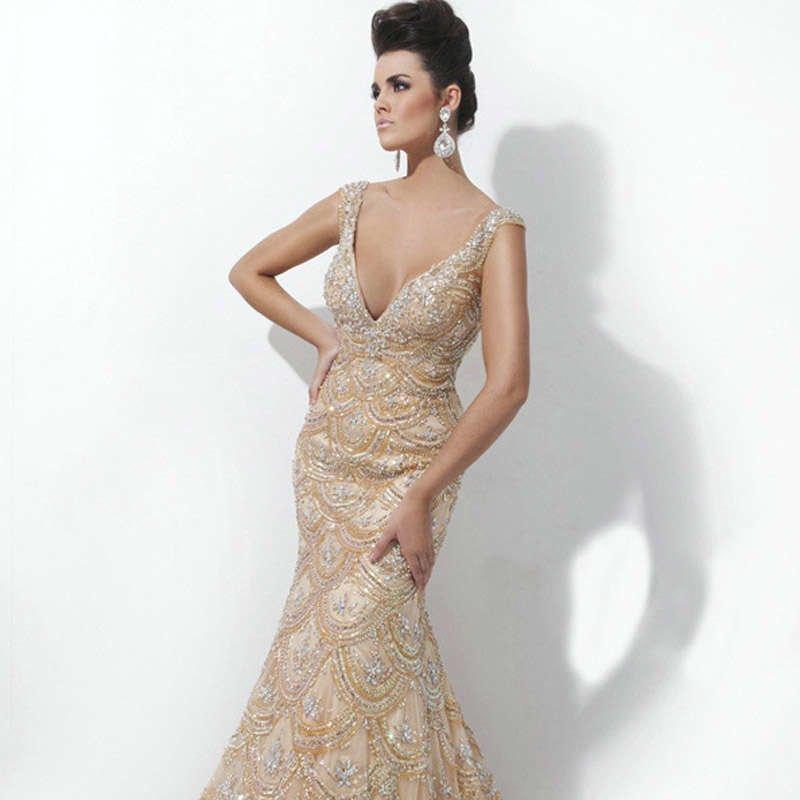 Вечерние платья Русалка Годе