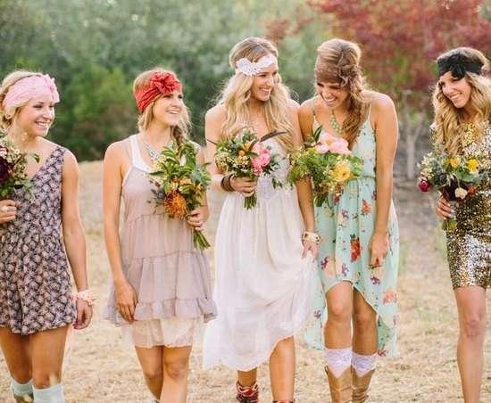 Свадьба бохо — Платья для подружек невесты