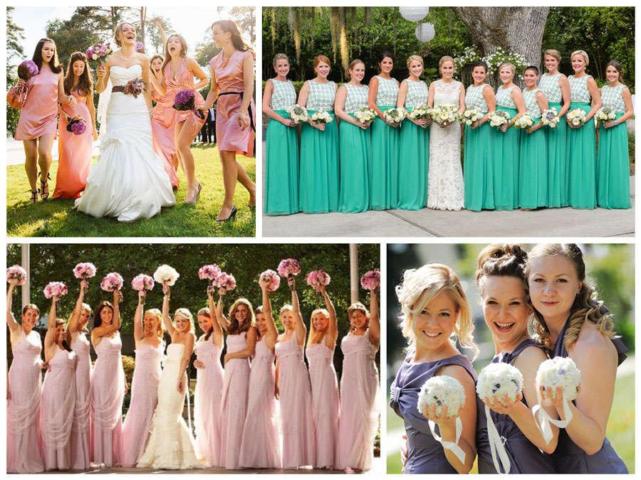 Красивые платья подружек невесты