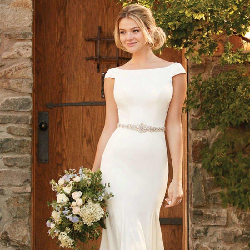 Атласные свадебные платья
